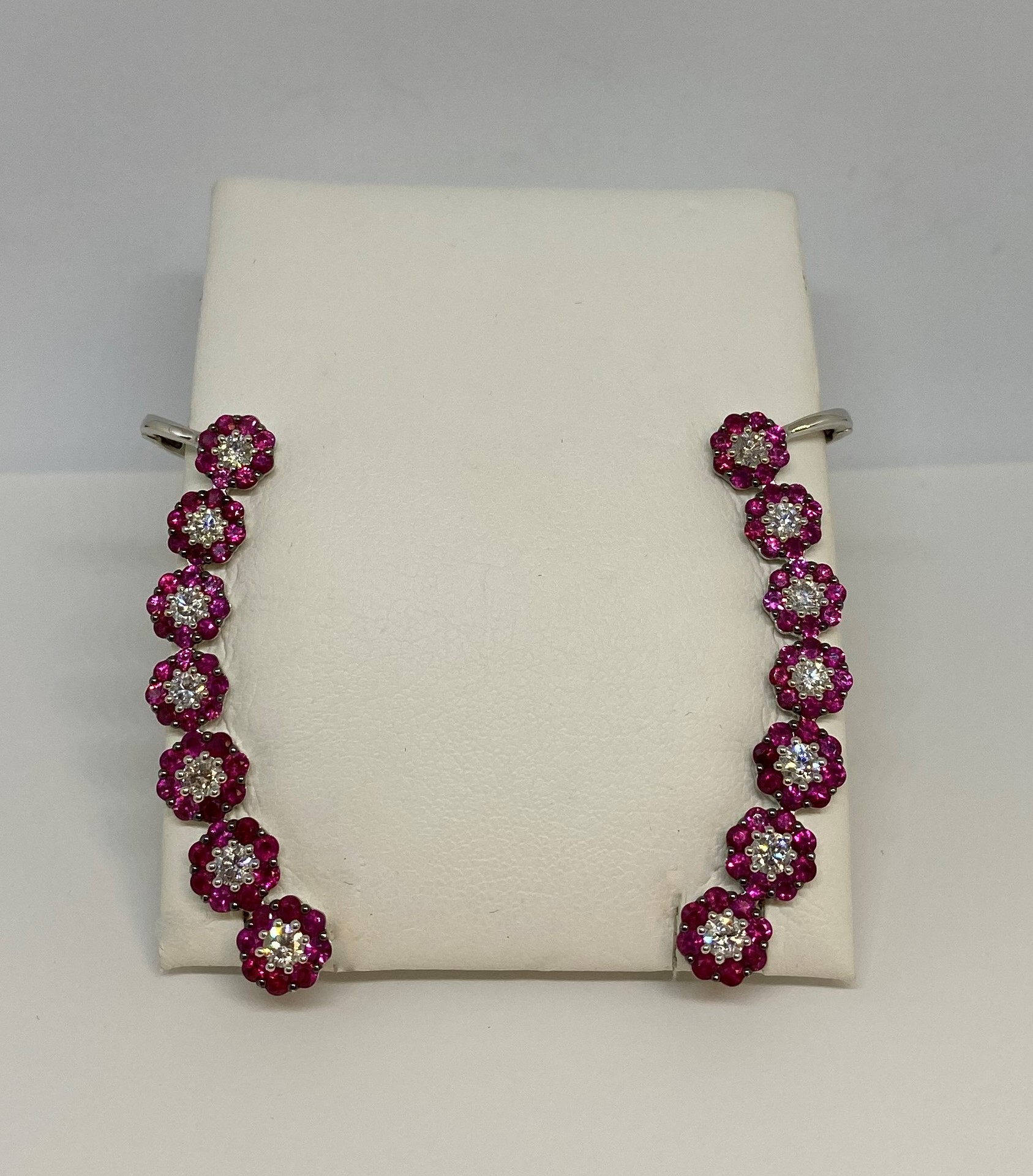 Over 3 Carats Total Weight Ruby Earring Crawlers