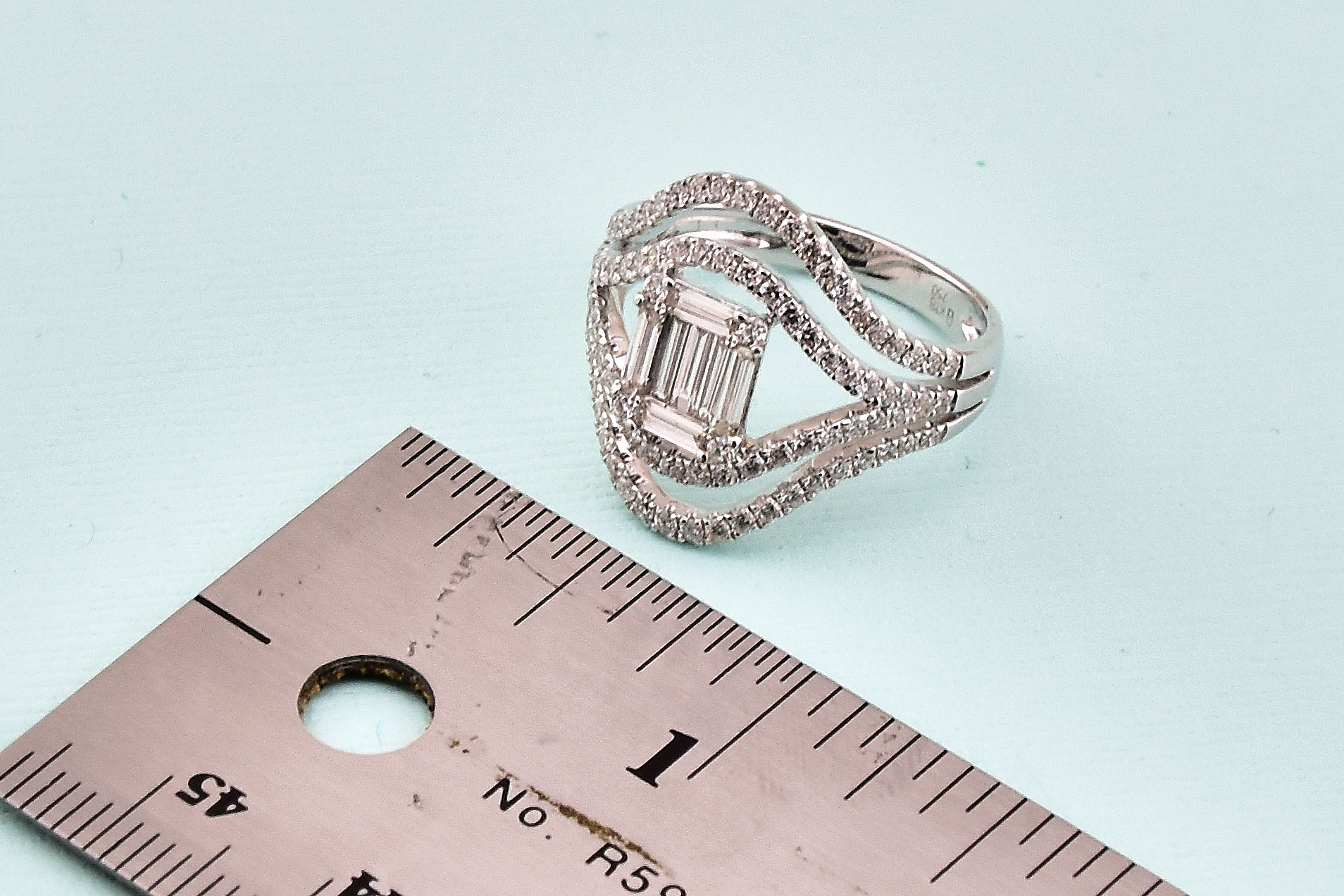 Over 1 Carat Total Weight Diamond Ring