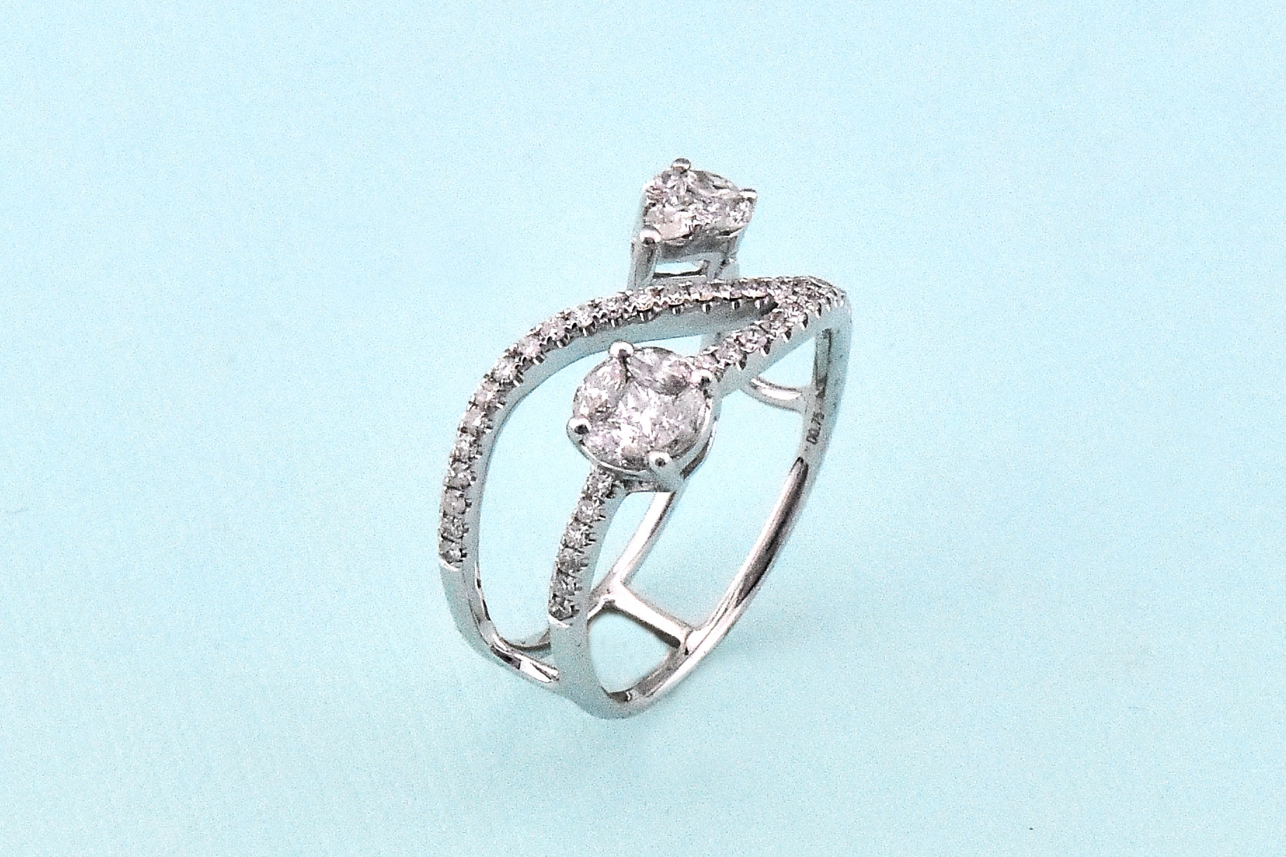 Three Quarter Carats Total Weight Diamond Ring