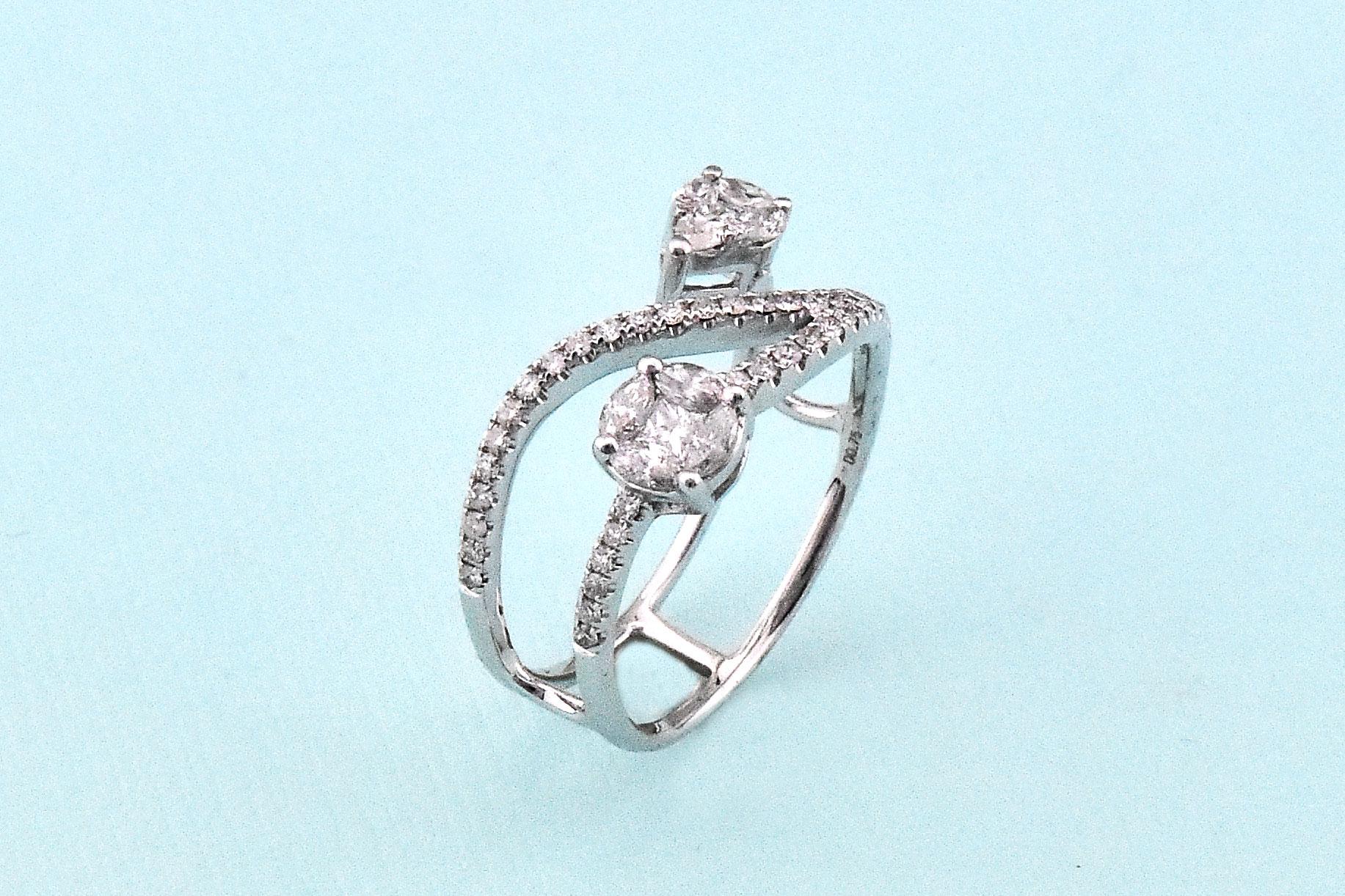 Three Quarter Carats Total Weight Diamond Ring