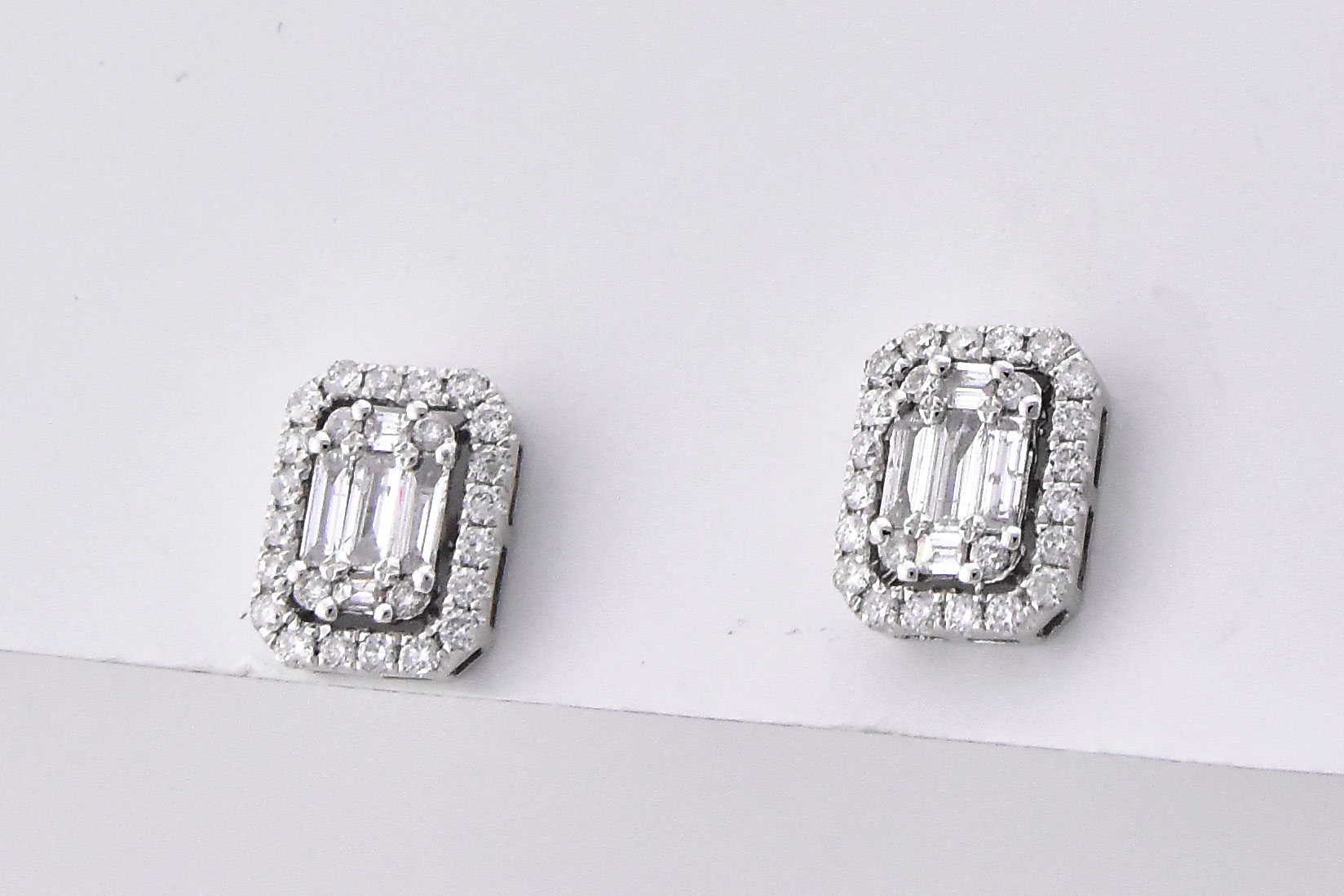 Half Carats Total Weight Diamond Earrings