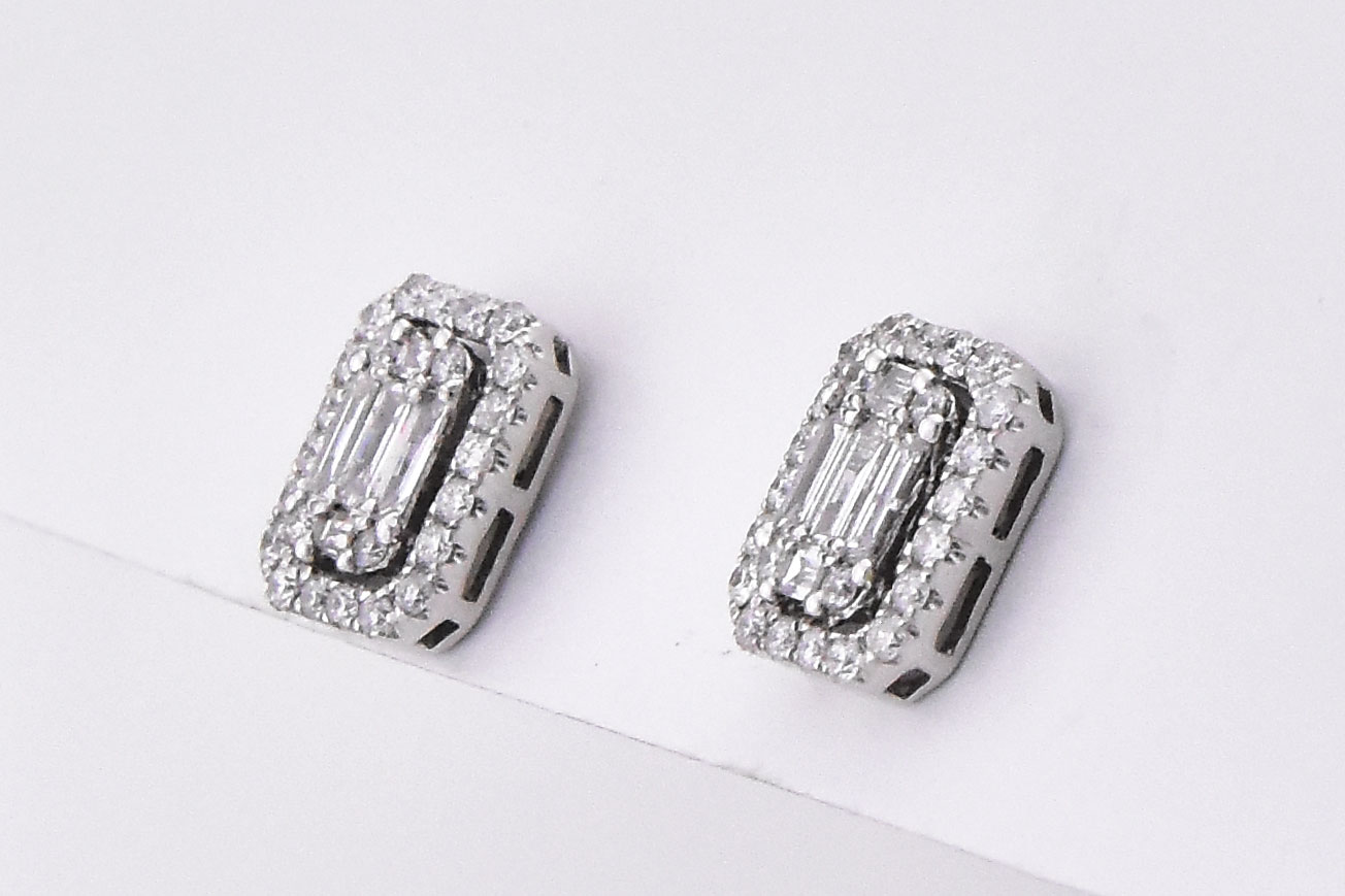 Half Carats Total Weight Diamond Earrings