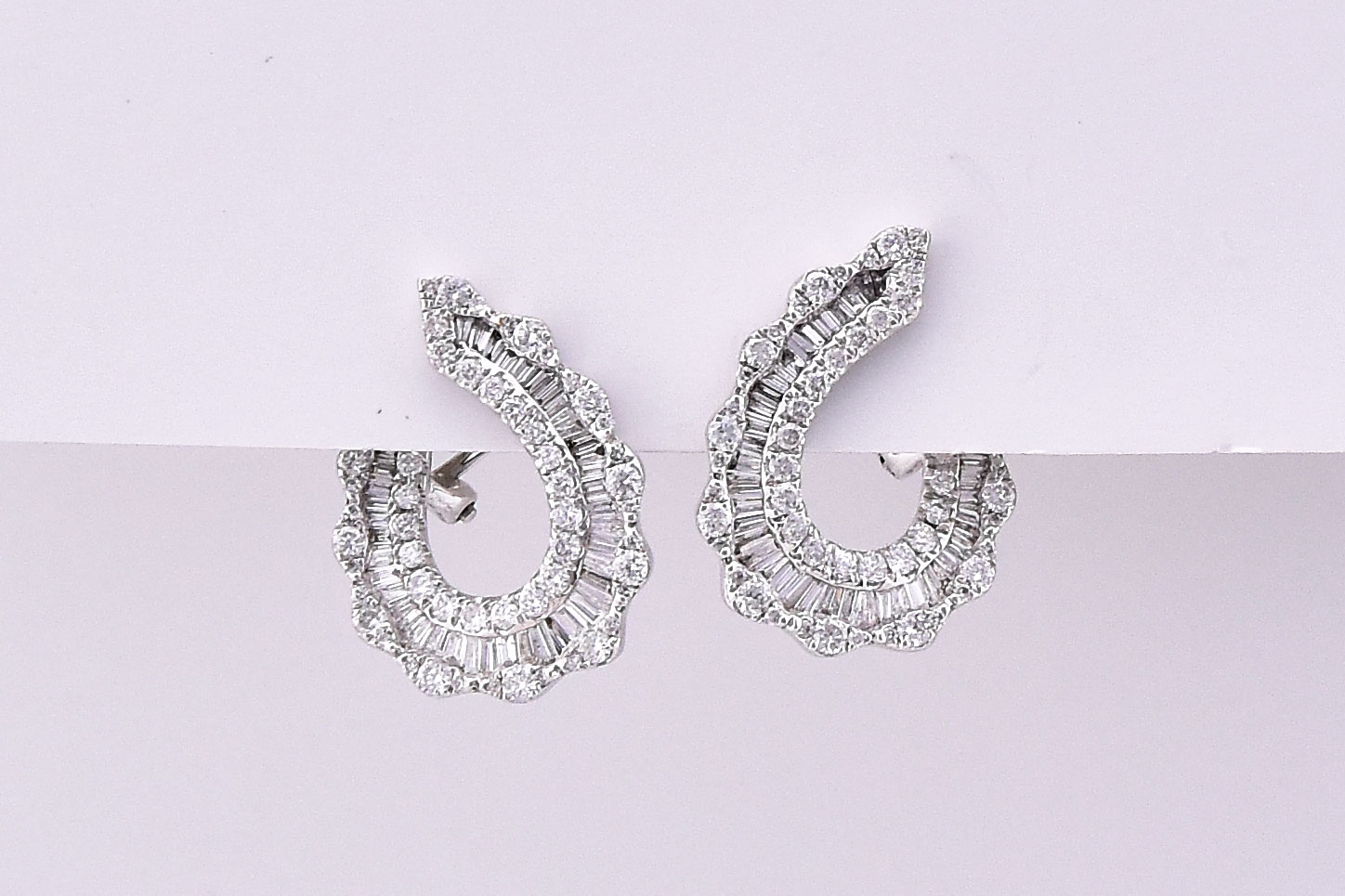 Almost 1.5 Carats Total Weight Diamond Earrings