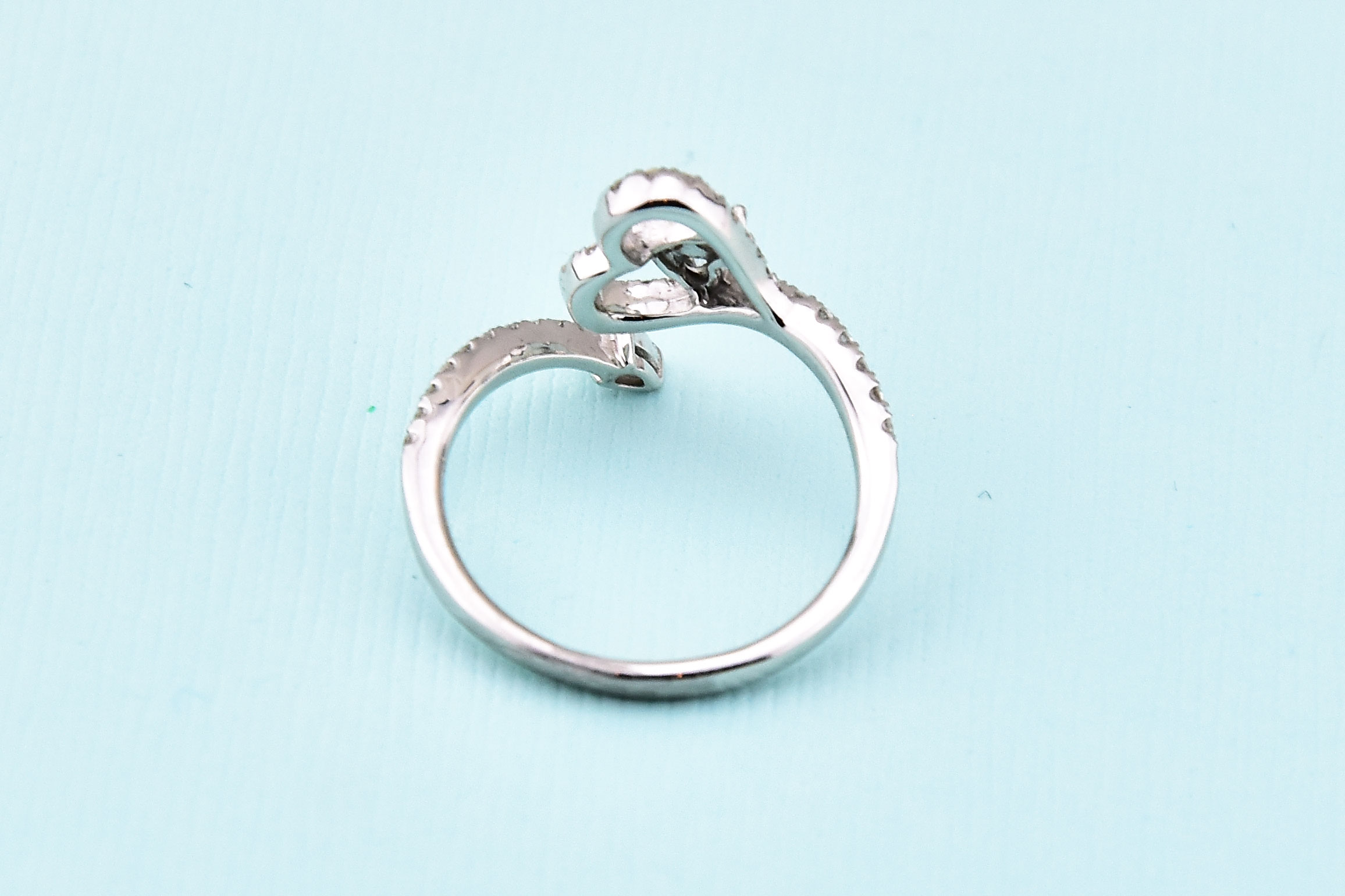 One Third Carats Total Weight Heart Shape Diamond Ring
