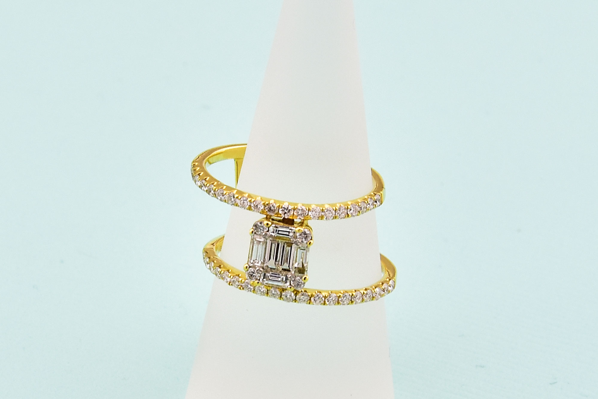 Almost 1 Carat Total Weight Diamond Ring