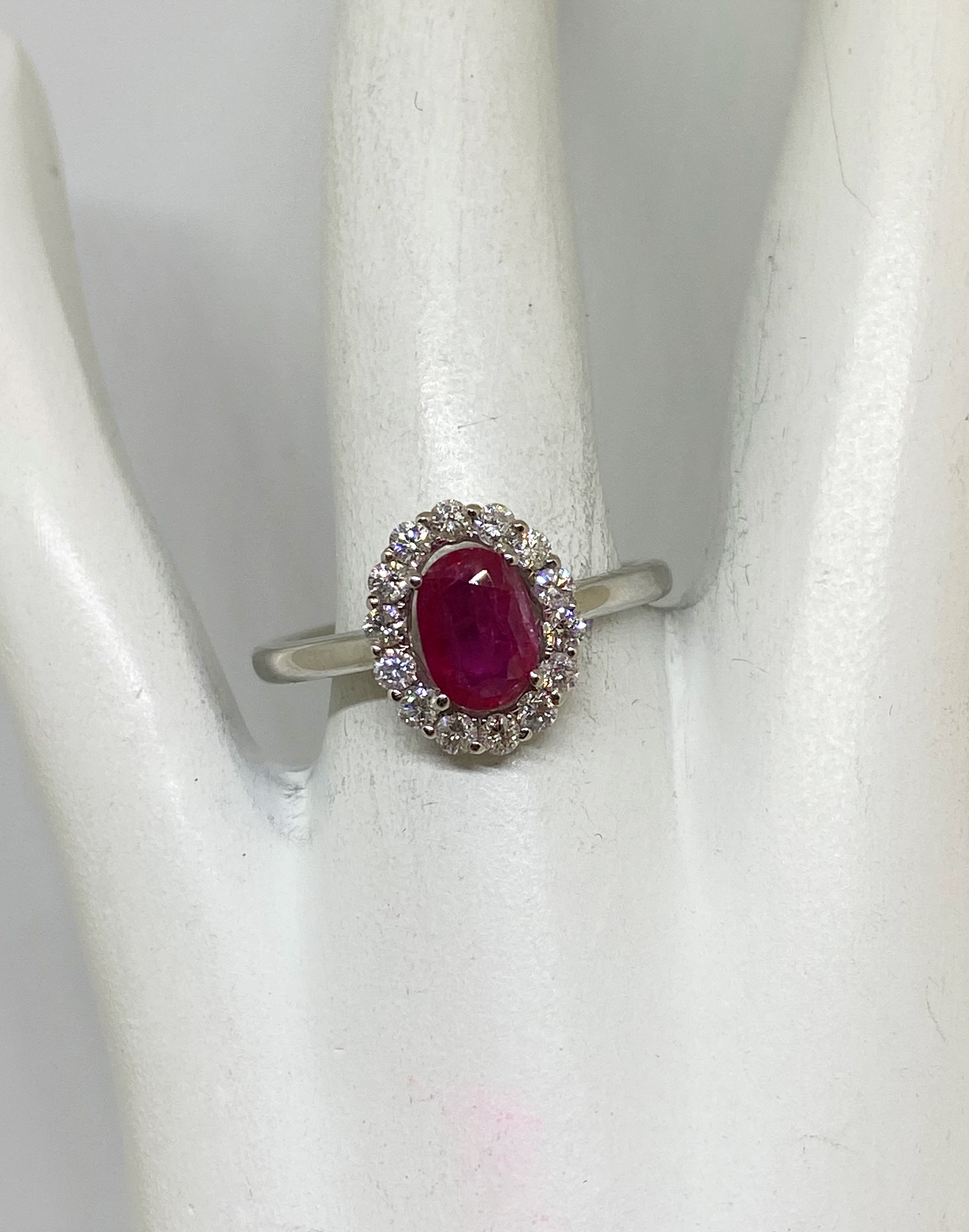 Almost 1 Carat Ruby And Diamond Ring