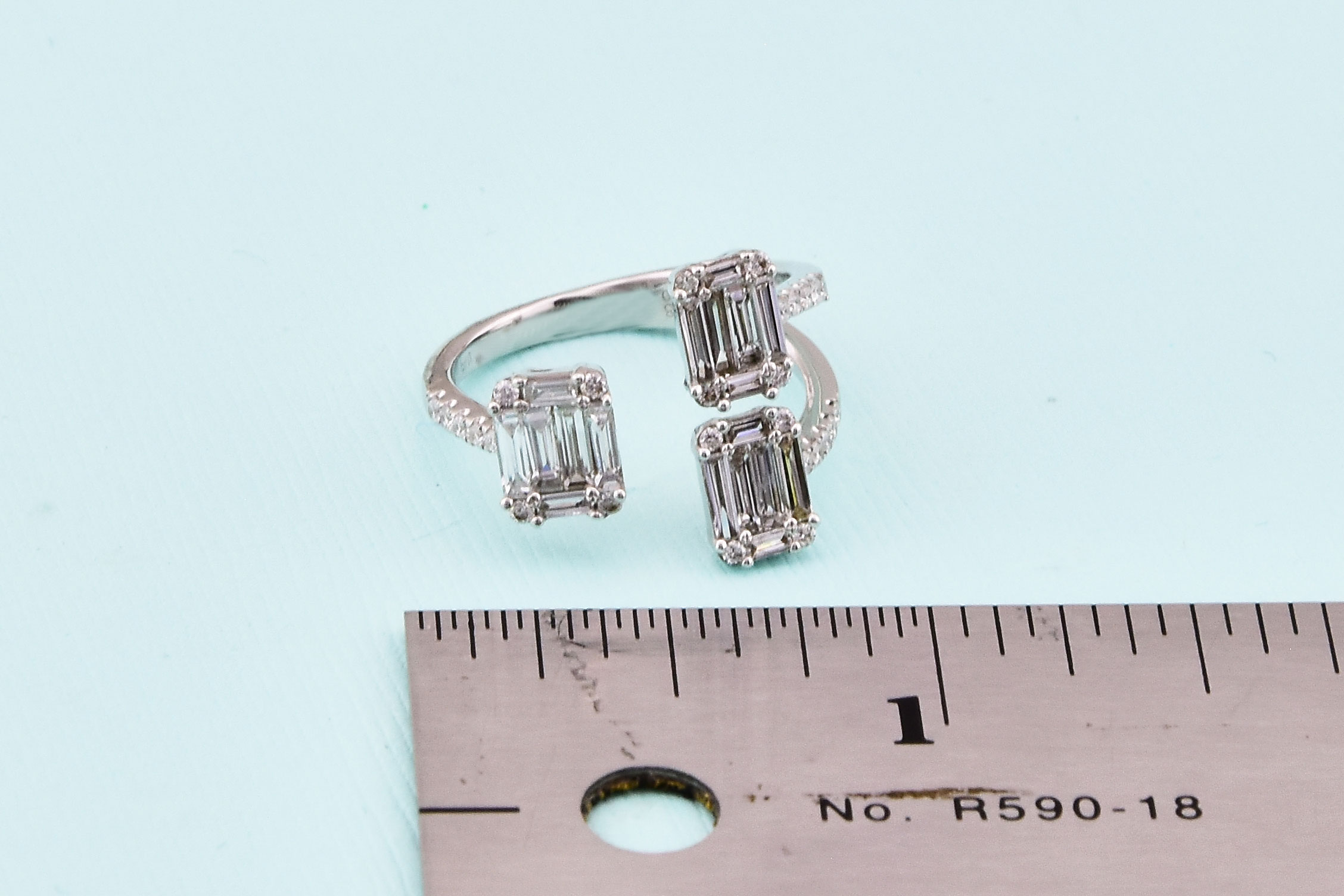 1 Carat Total Weigh Diamond Cocktail Ring