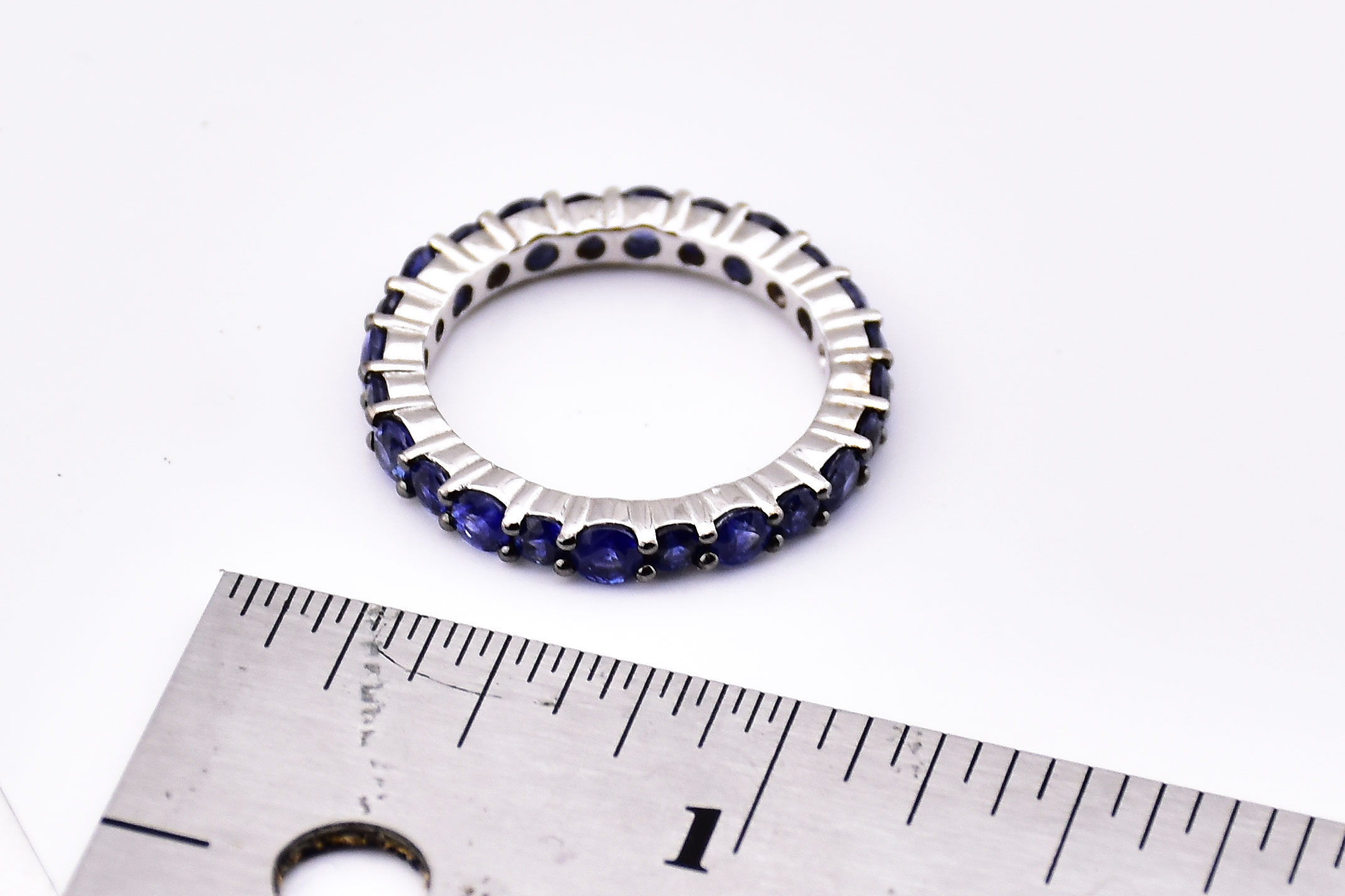 Over 2.5 Carats Total Weight Sapphire Eternity Band