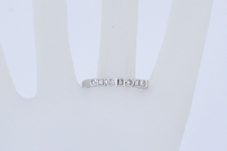 1/3 Carats Diamond White Gold Band