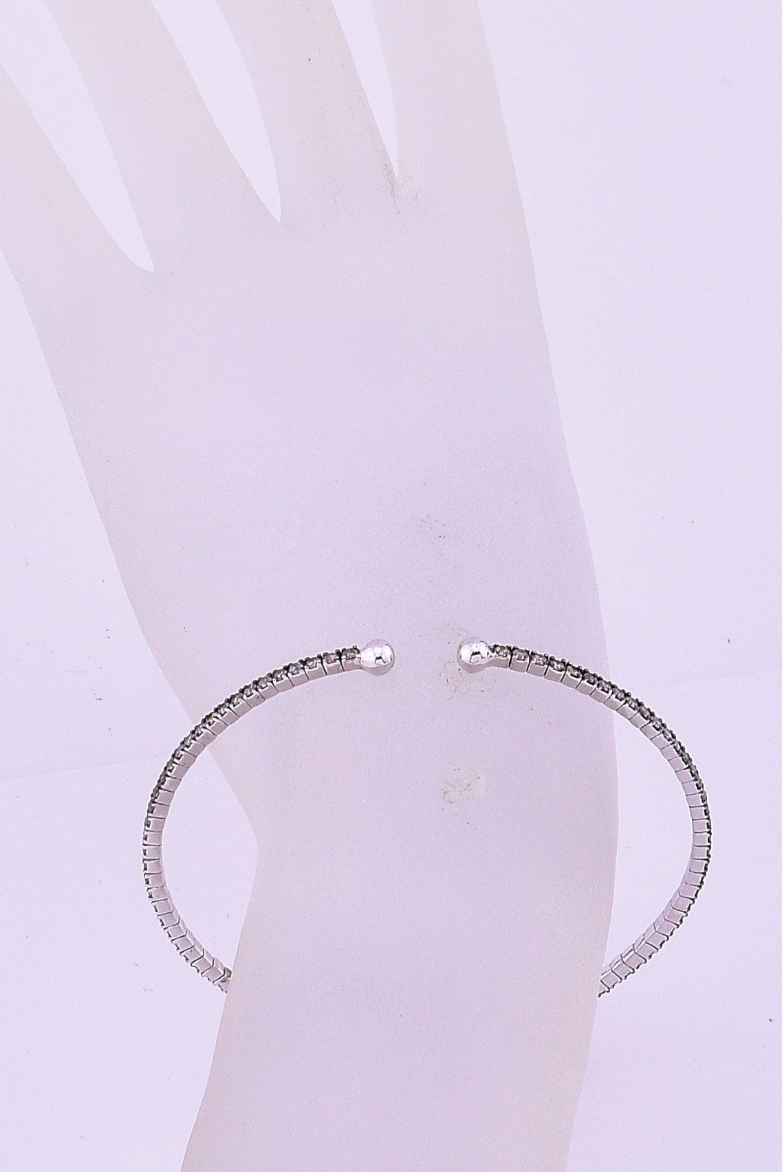 2 Carats Total Weight Diamond Soft Bangle