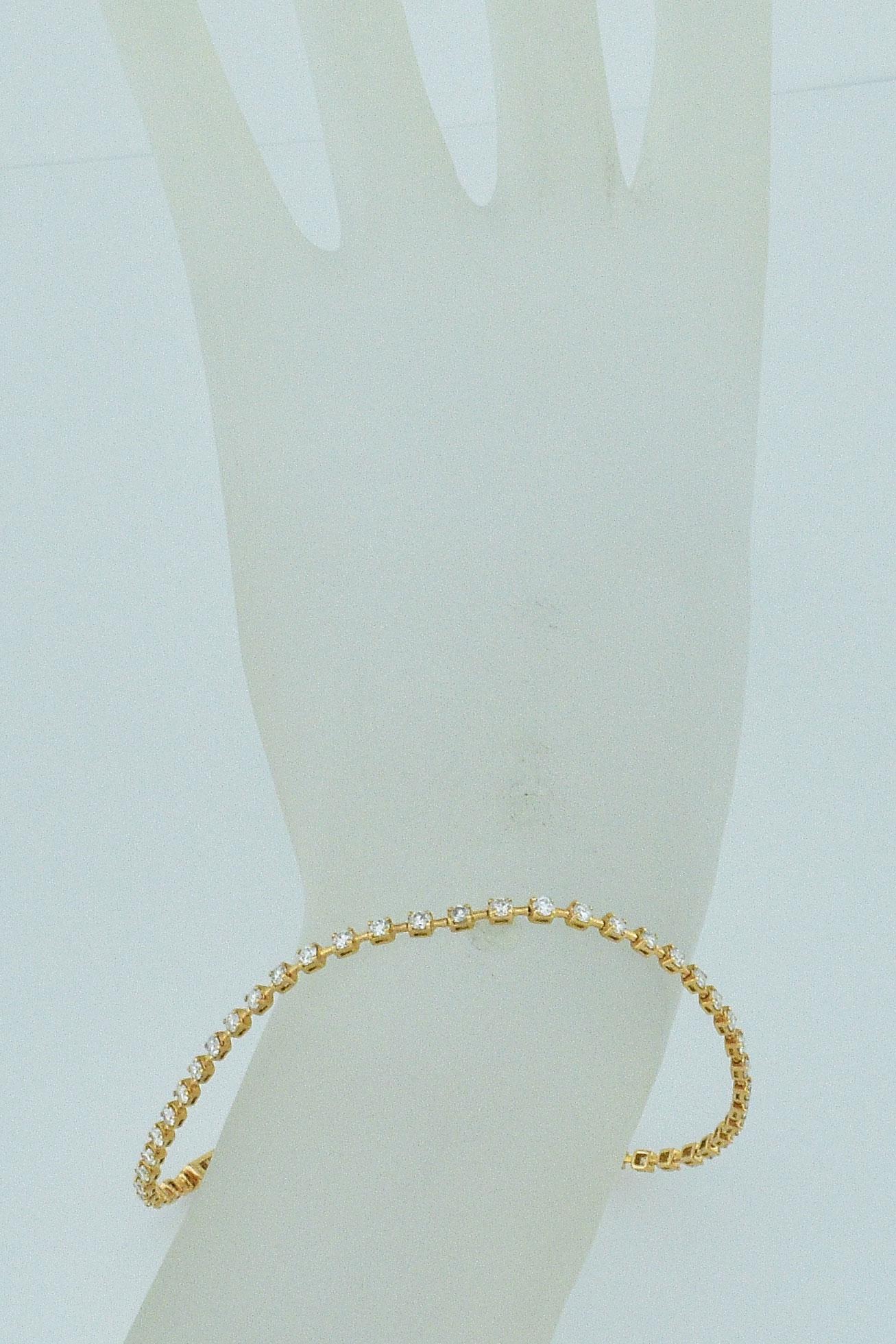 Rose Gold Bar-Link Bracelet Set With Diamonds