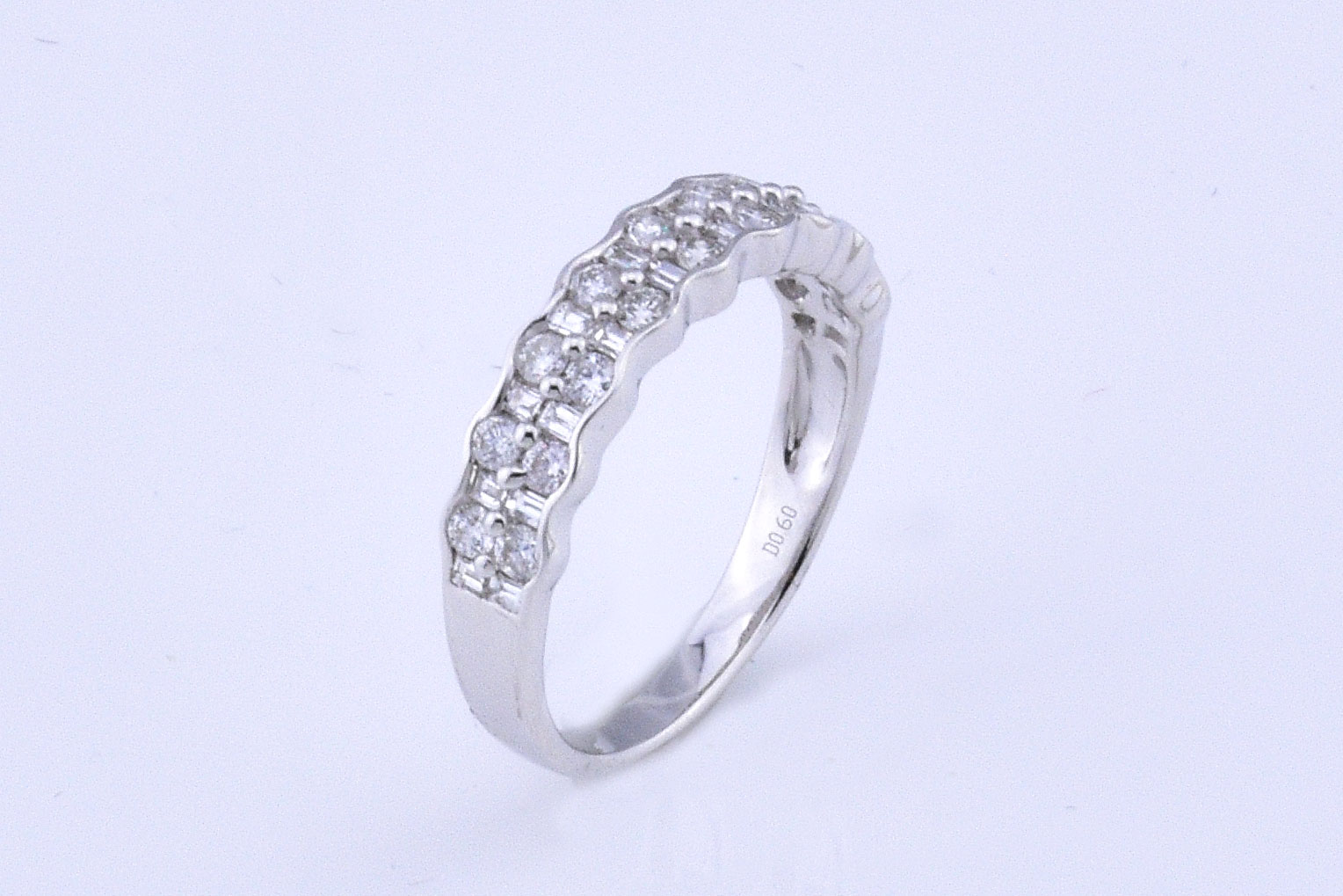 Over Half Carats Total Weight White Gold Diamond Band