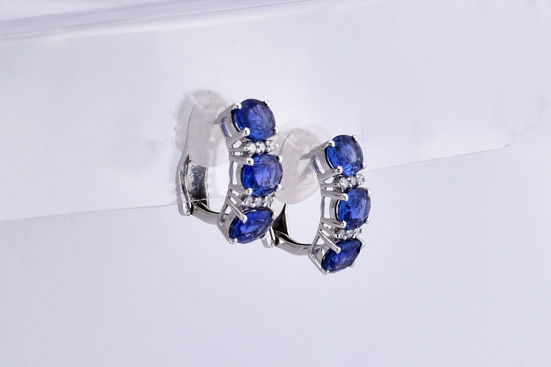Almost 4 Carats Total Weight Sapphire Earrings