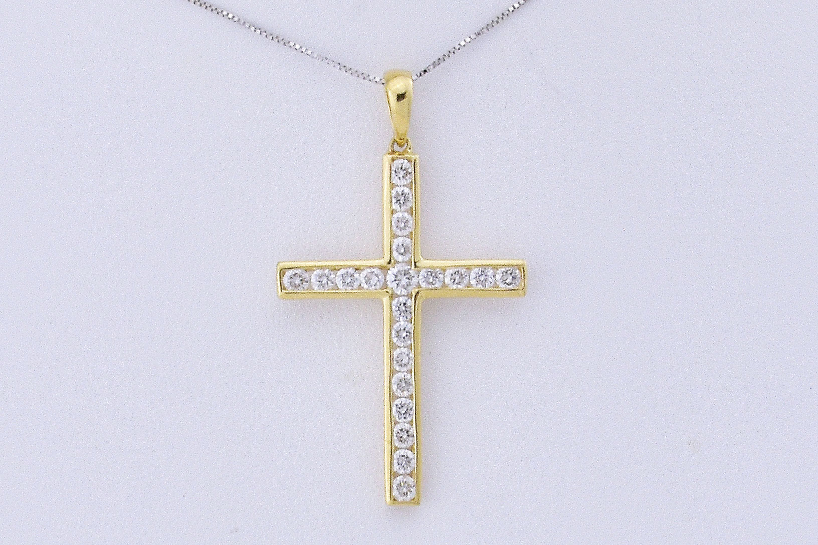 Over 1 Carat Total Weight Diamond Cross Pendant