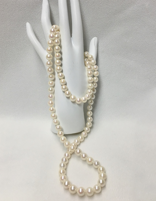 Beautiful 33 Inch Pearl Necklace