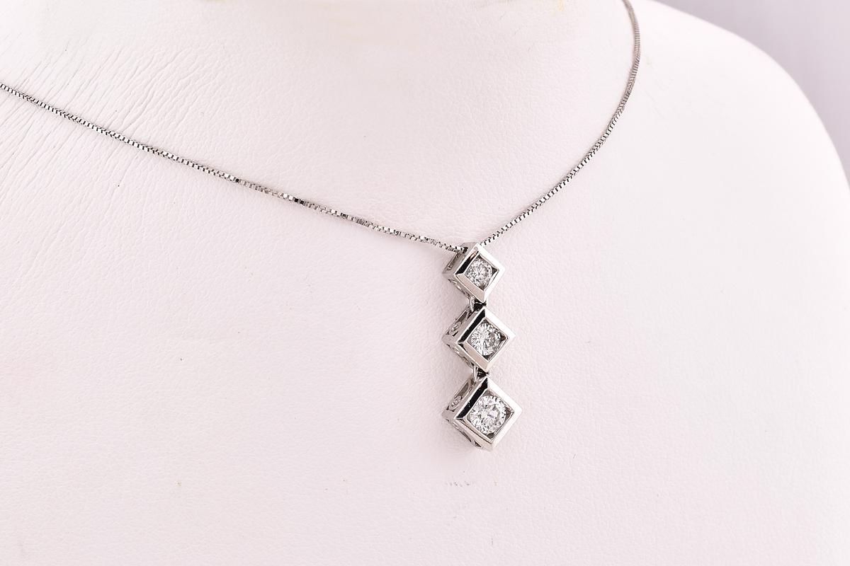 Half Carat TW Diamond Pendant