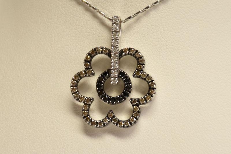 Adorable 18K White Gold Diamond Pendant