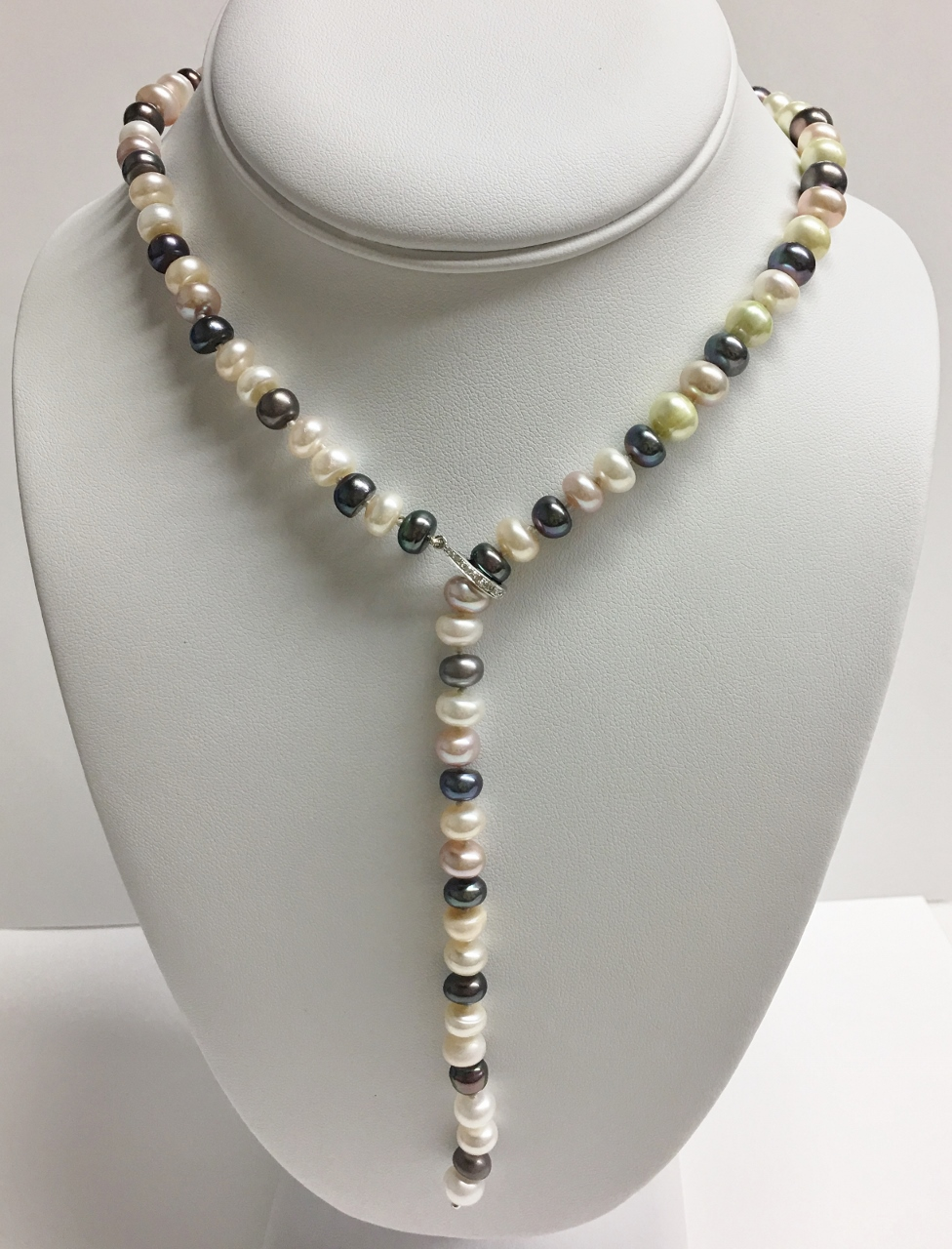 Fresh Water Pearl Necklace With Adjustable Clasp