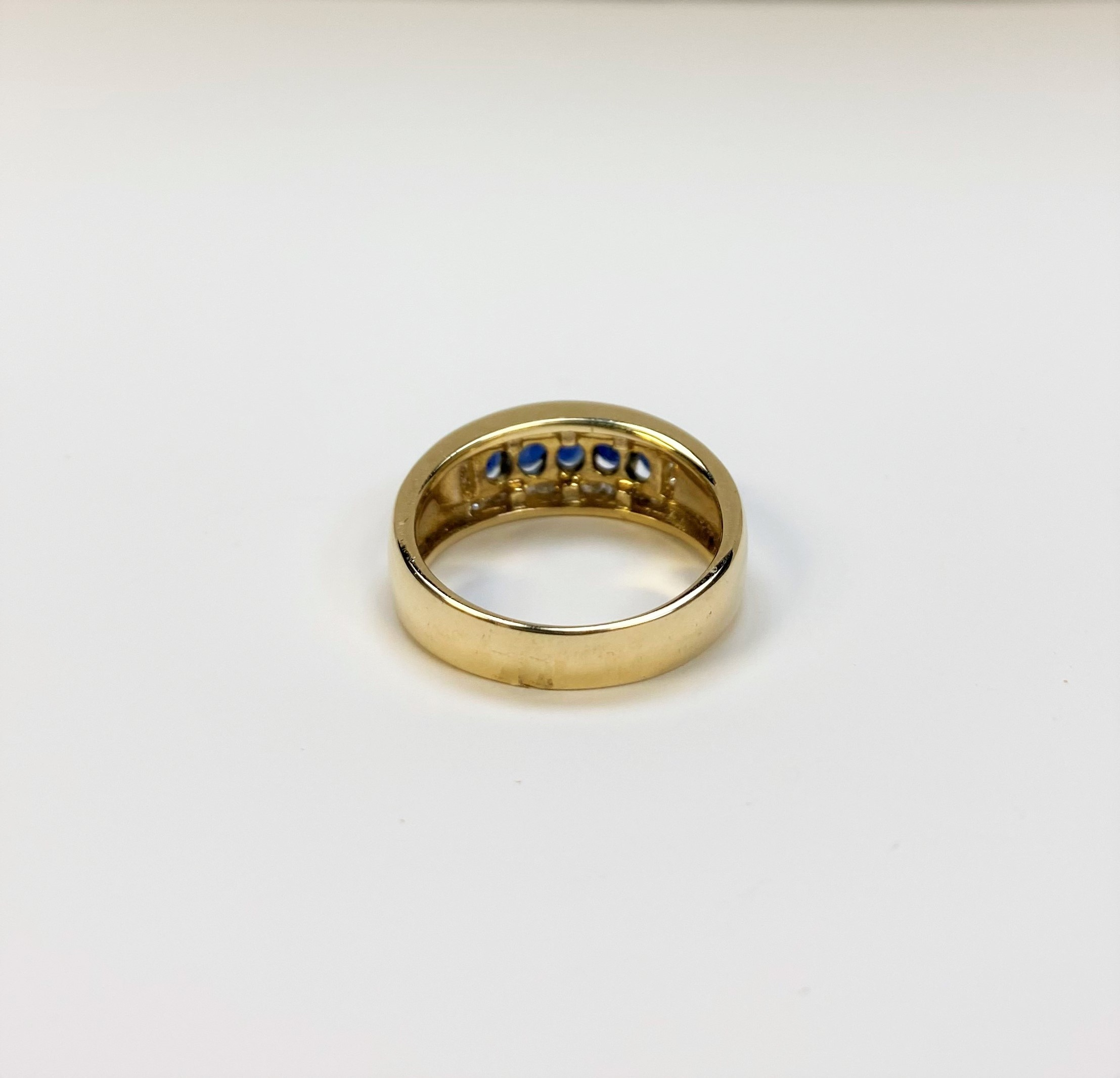 1 Carat Total Weight Sapphire Diamond Ring