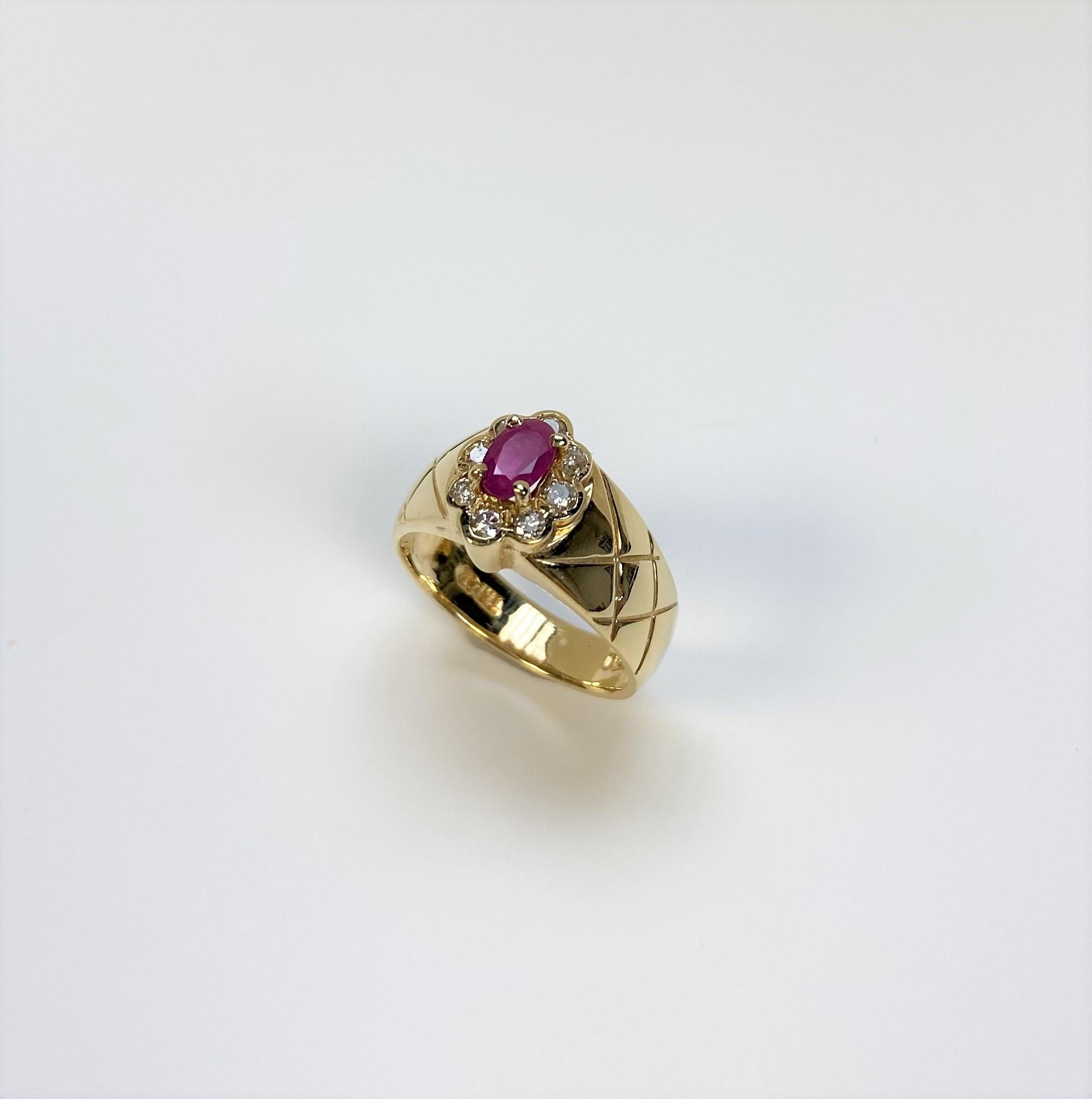 Half Carats Ruby Diamond Ring