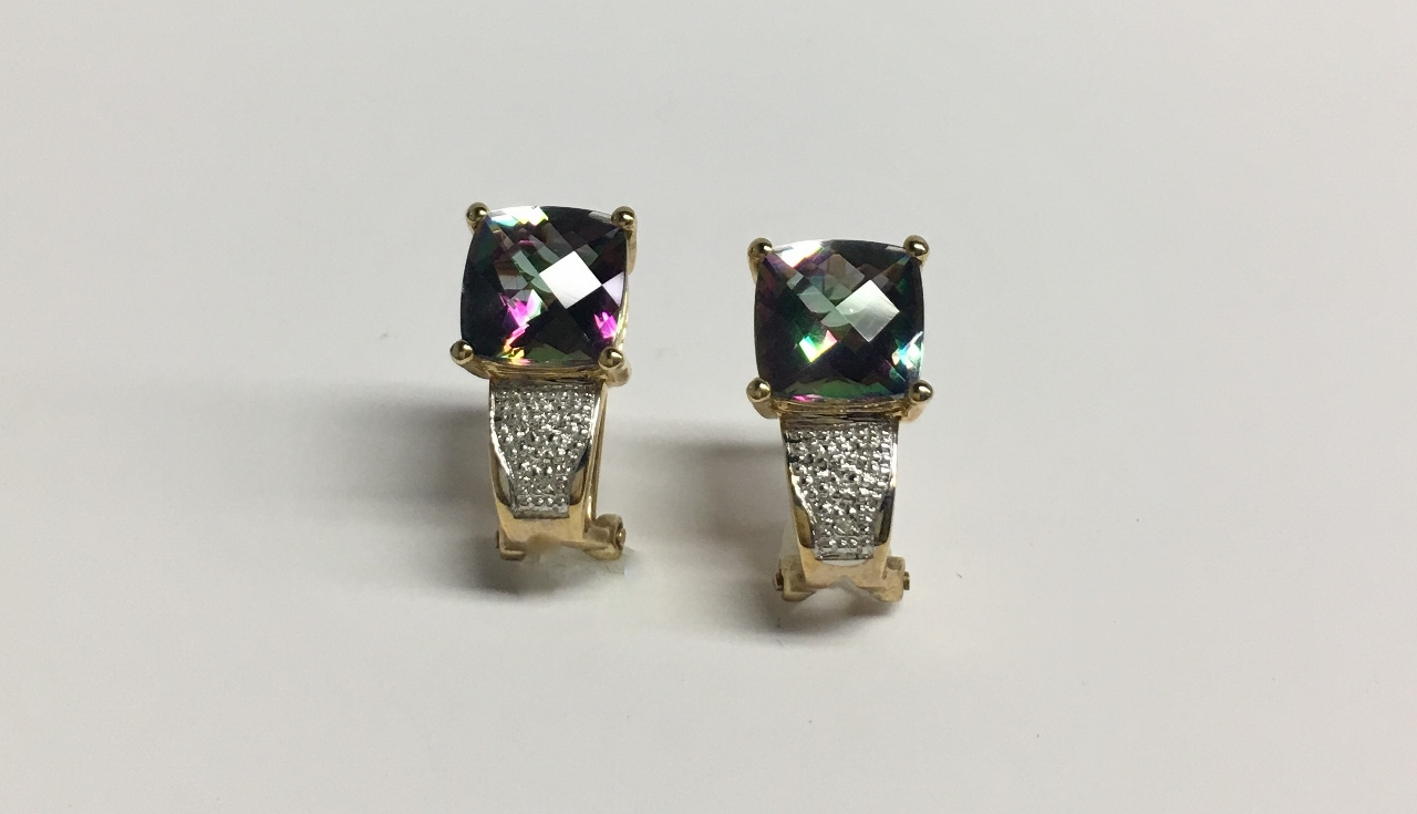 Mystic Topaz Earrings in Yellow Gold