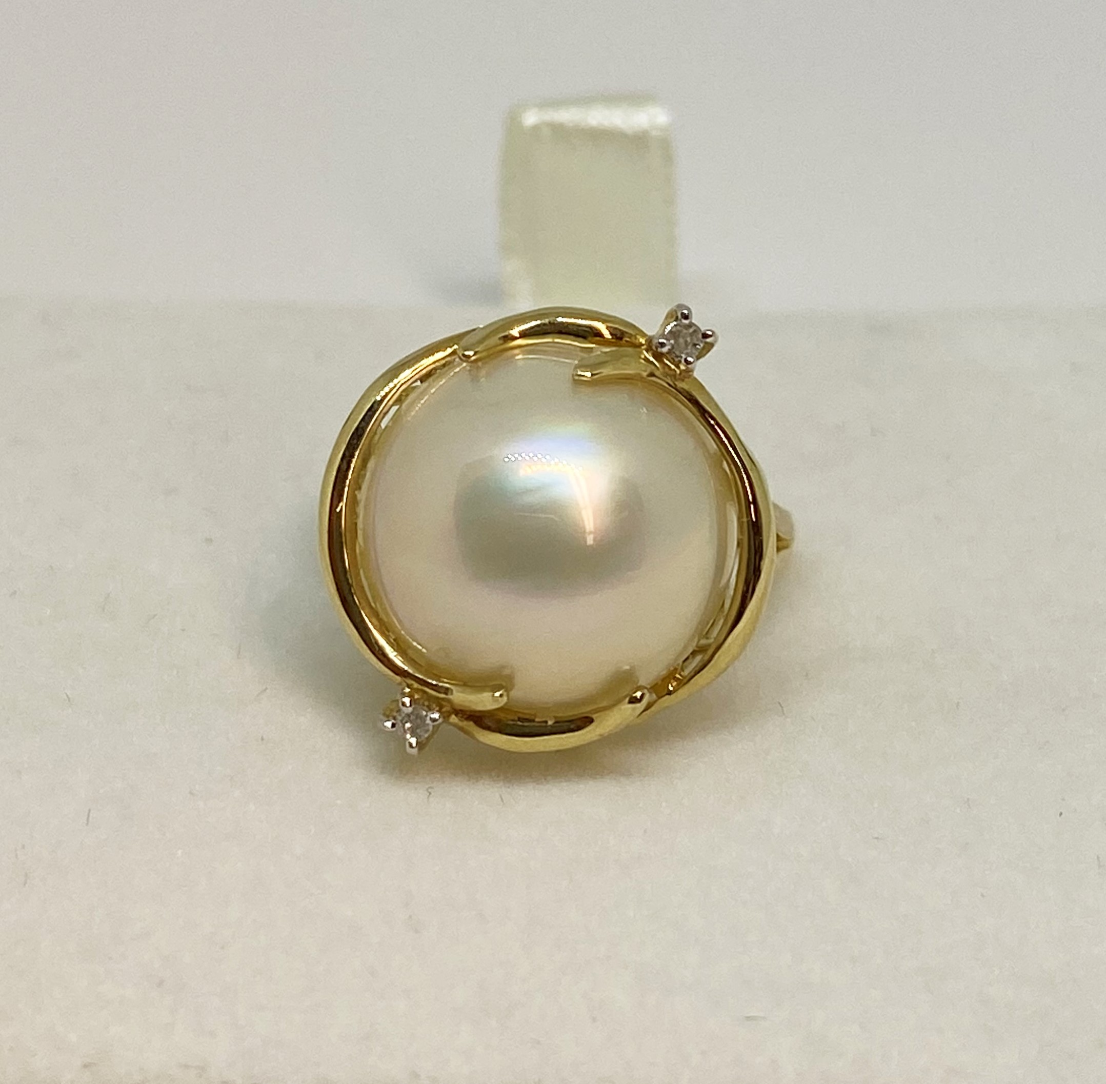 Over 13.5 Millimeters Mother Of Pearl Ring