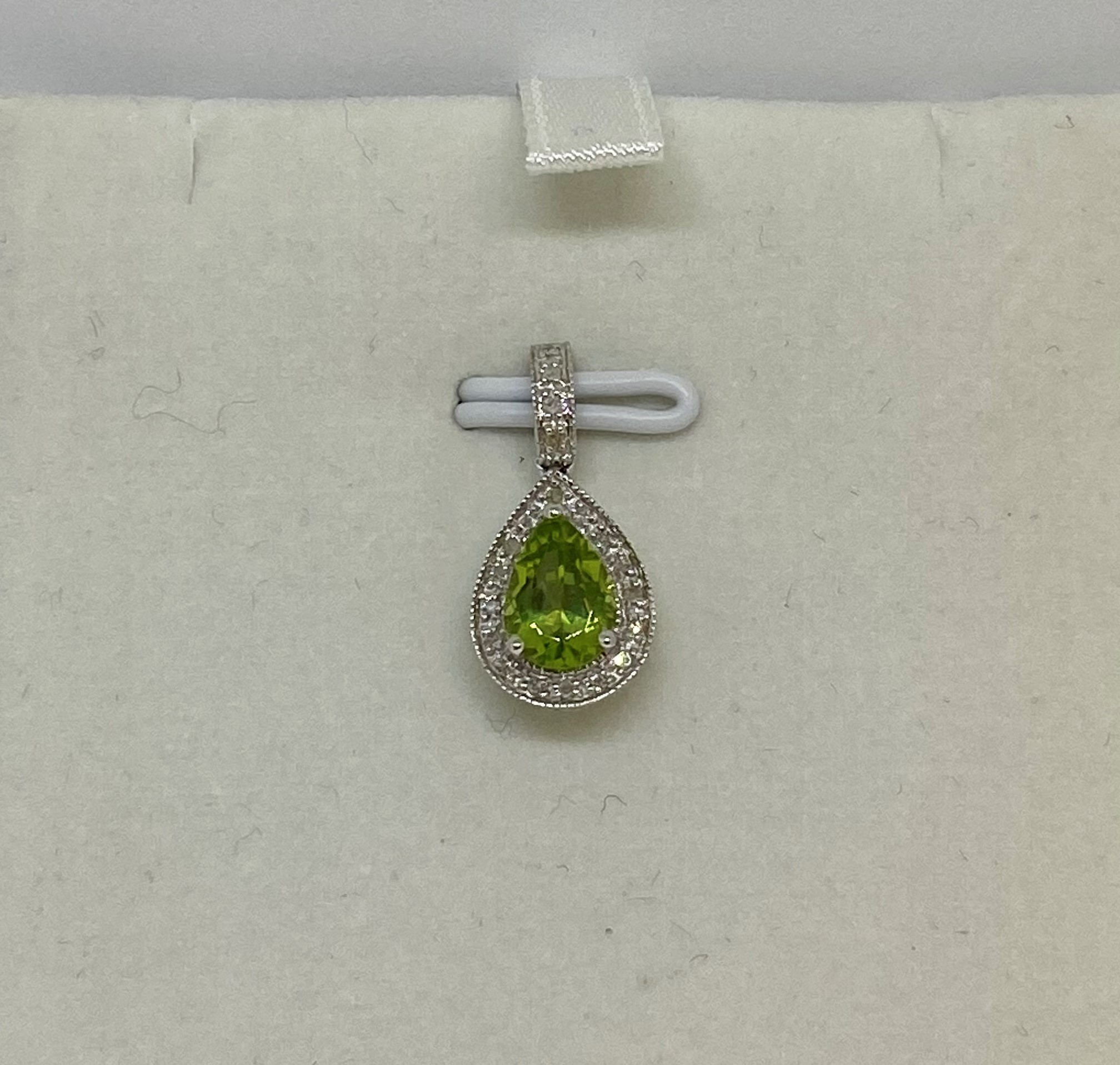 Three Quarter Carats Peridot Pendant
