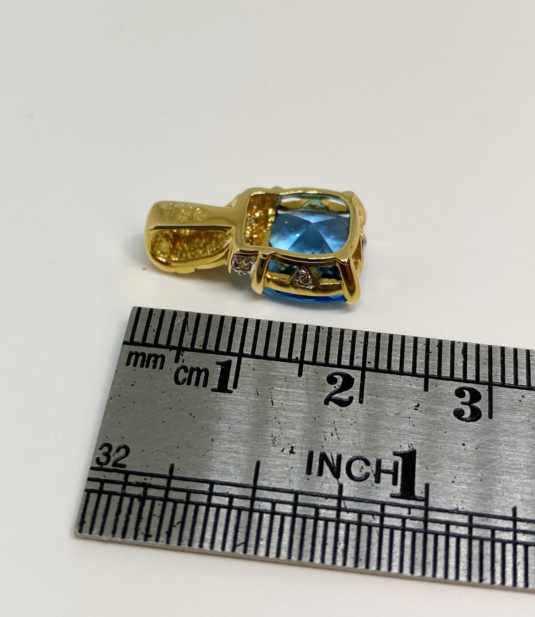 1.50 Carats Topaz Pendant