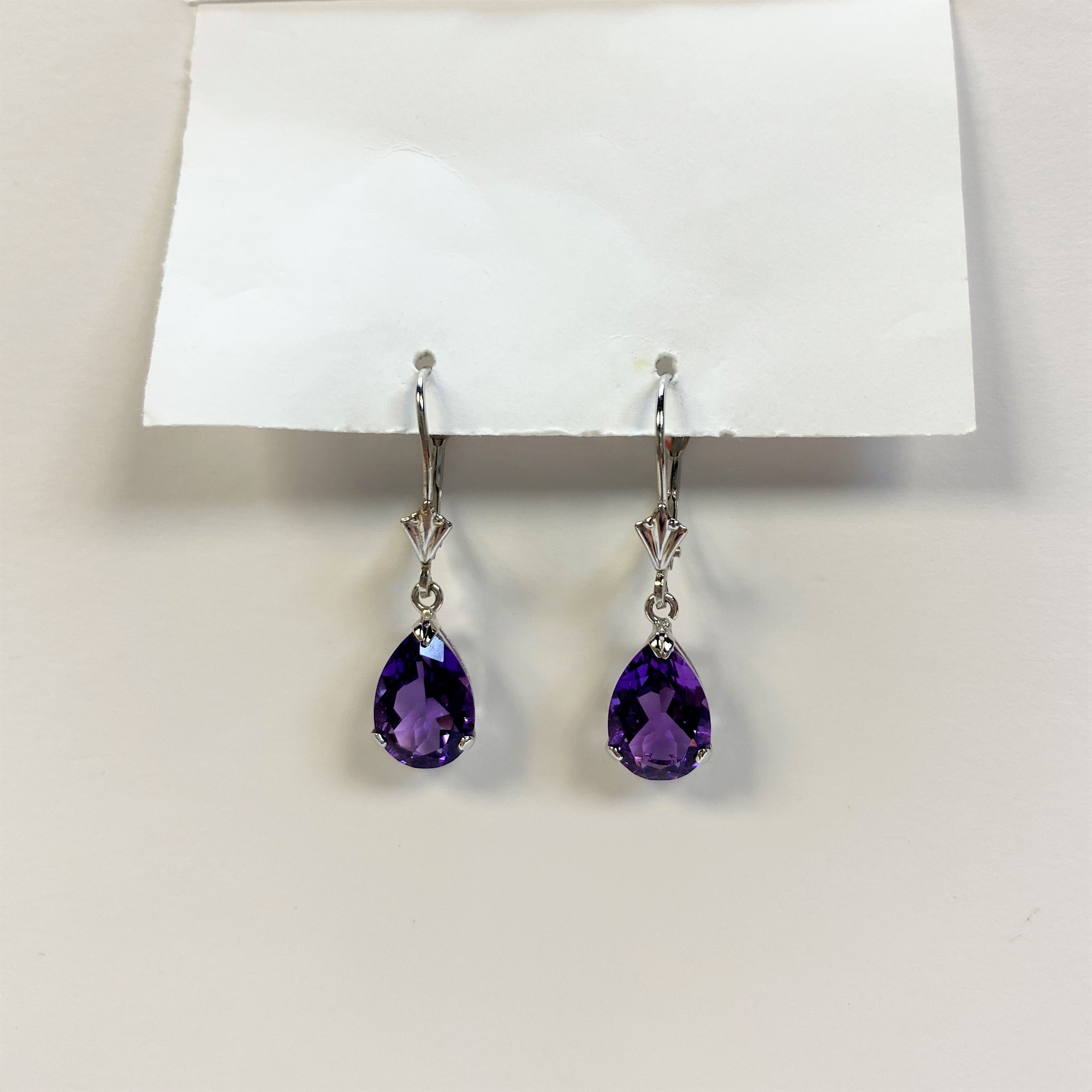 2 Carats Total Weight Amethyst Earrings